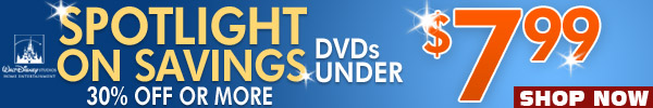 DVDs Under 7.99 Sale by Walt Disney