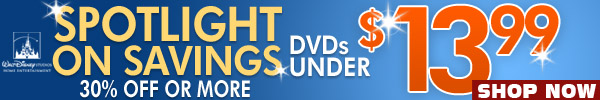 DVDs Under 13.99 Sale by Walt Disney