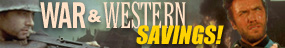 War and Western Sale